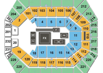 Bankers Life Fieldhouse Gymnastics Seating Chart