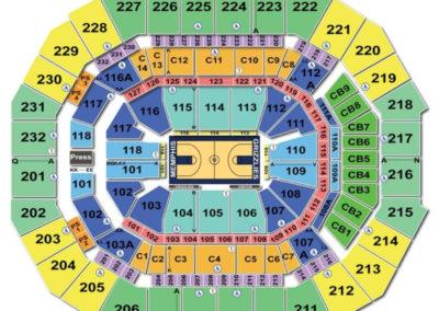 FedExForum Basketball Seating Chart