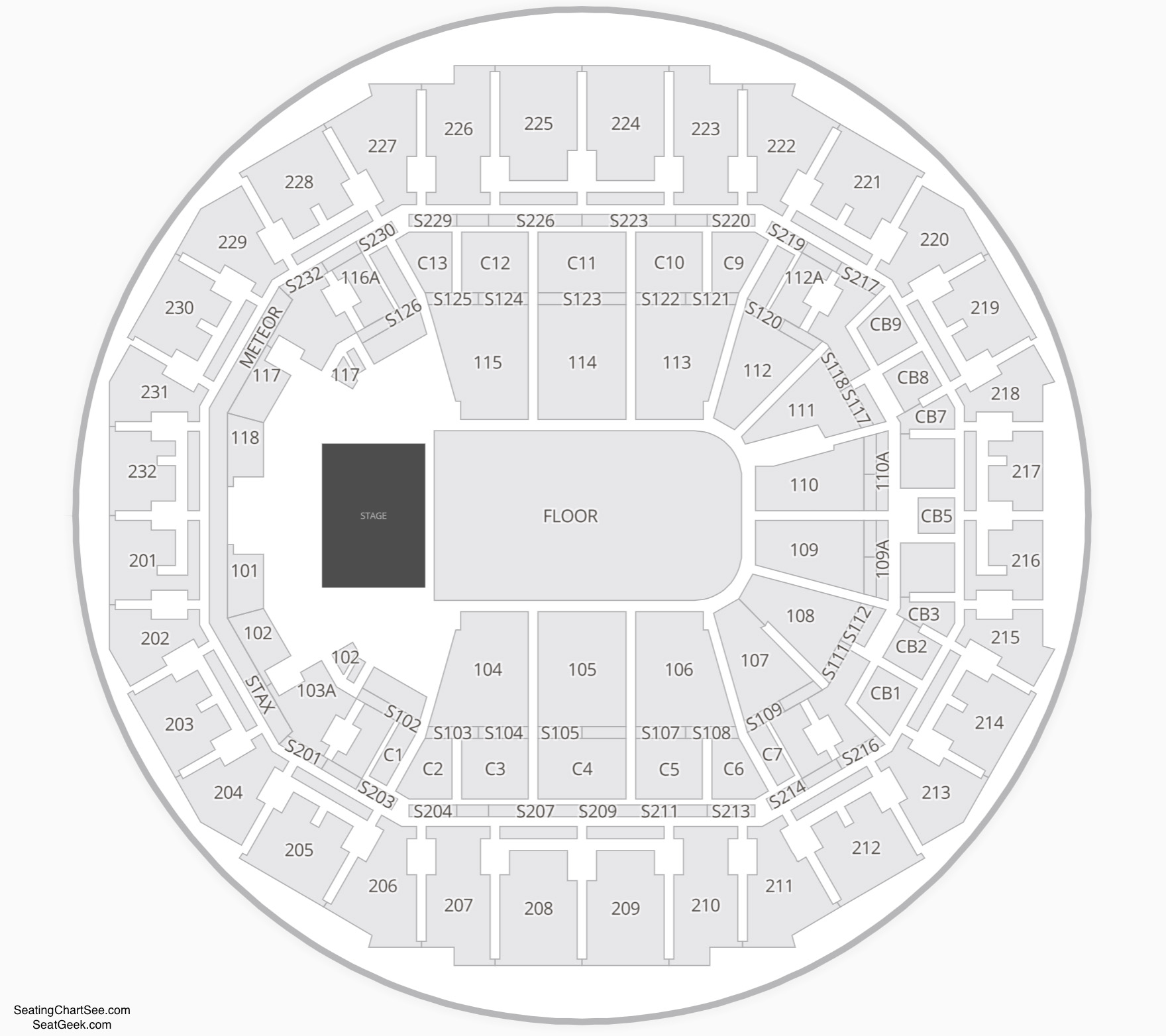 FedExForum Concert Seating Chart