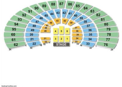 Frank Erwin Center Concert Seating Chart