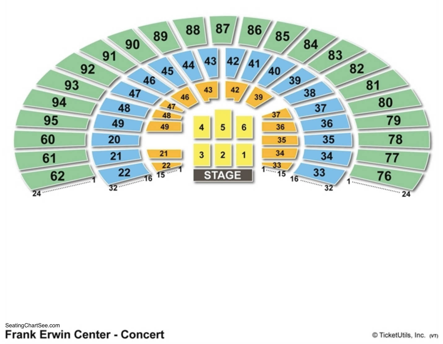 Frank Erwin Center Seating Charts Games Answers Cheats