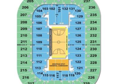 Greensboro Coliseum Complex Basketball Seating Chart