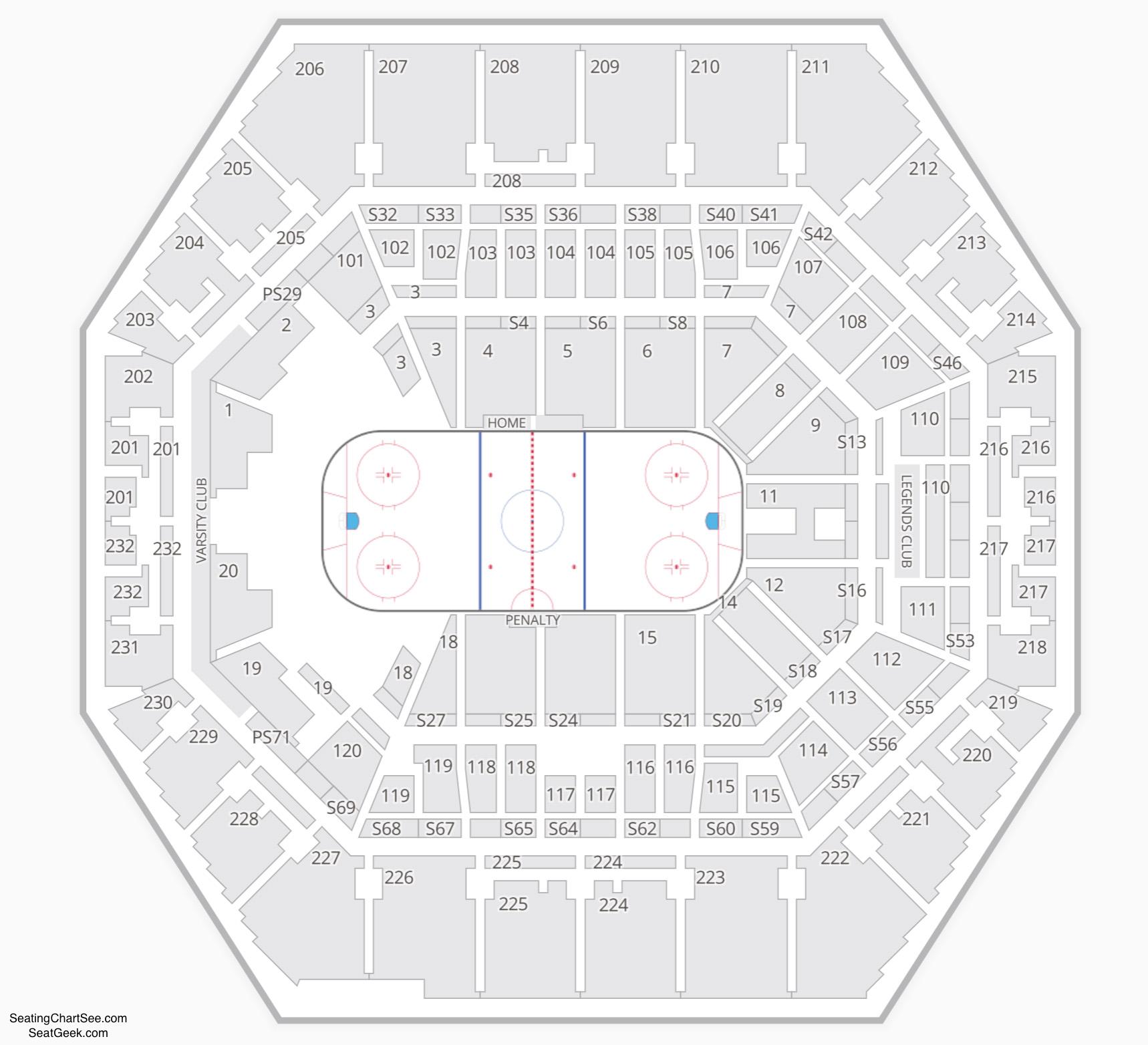 Indiana Ice Seating Chart