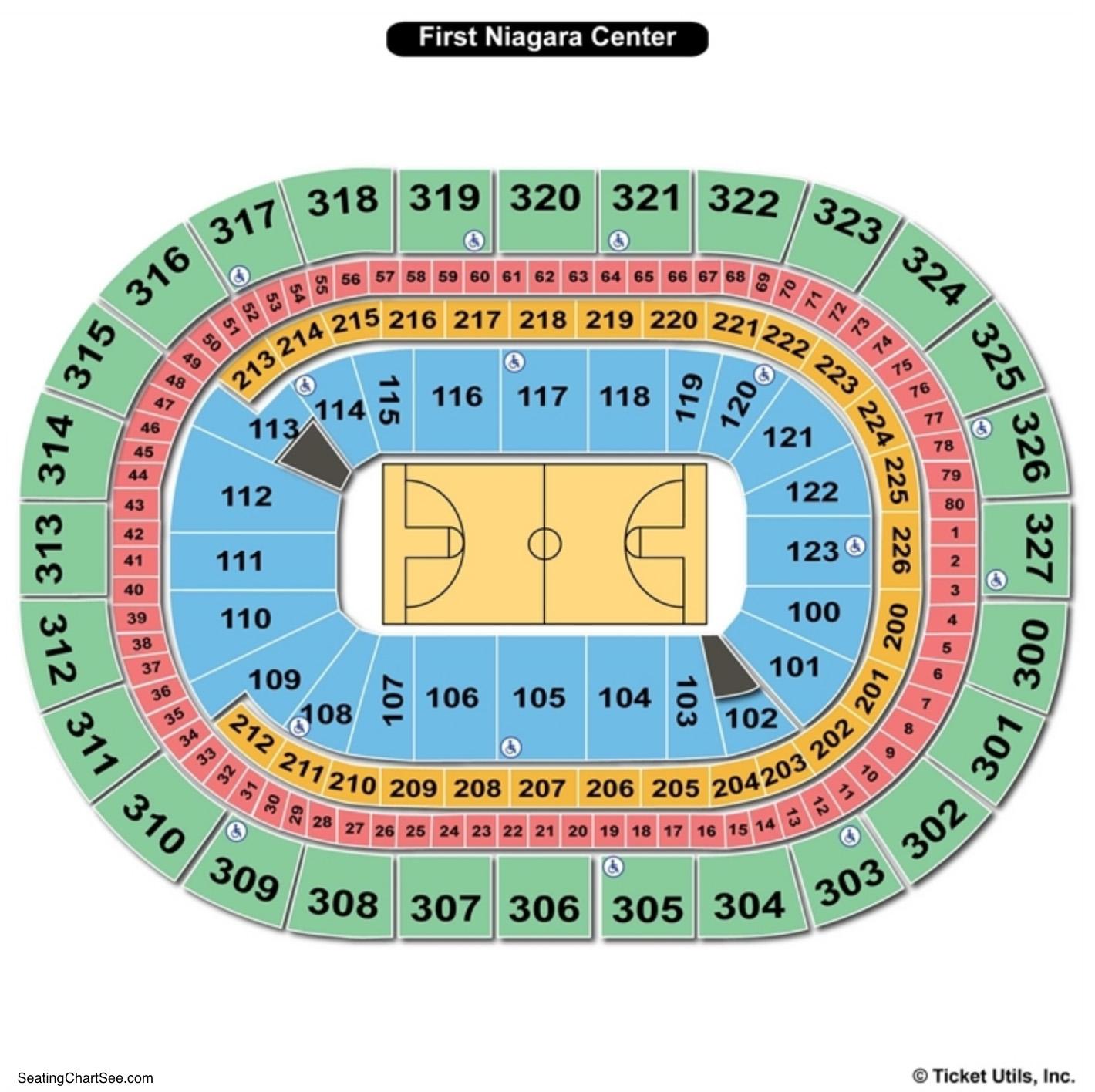 KeyBank Center Basketball Seating Chart