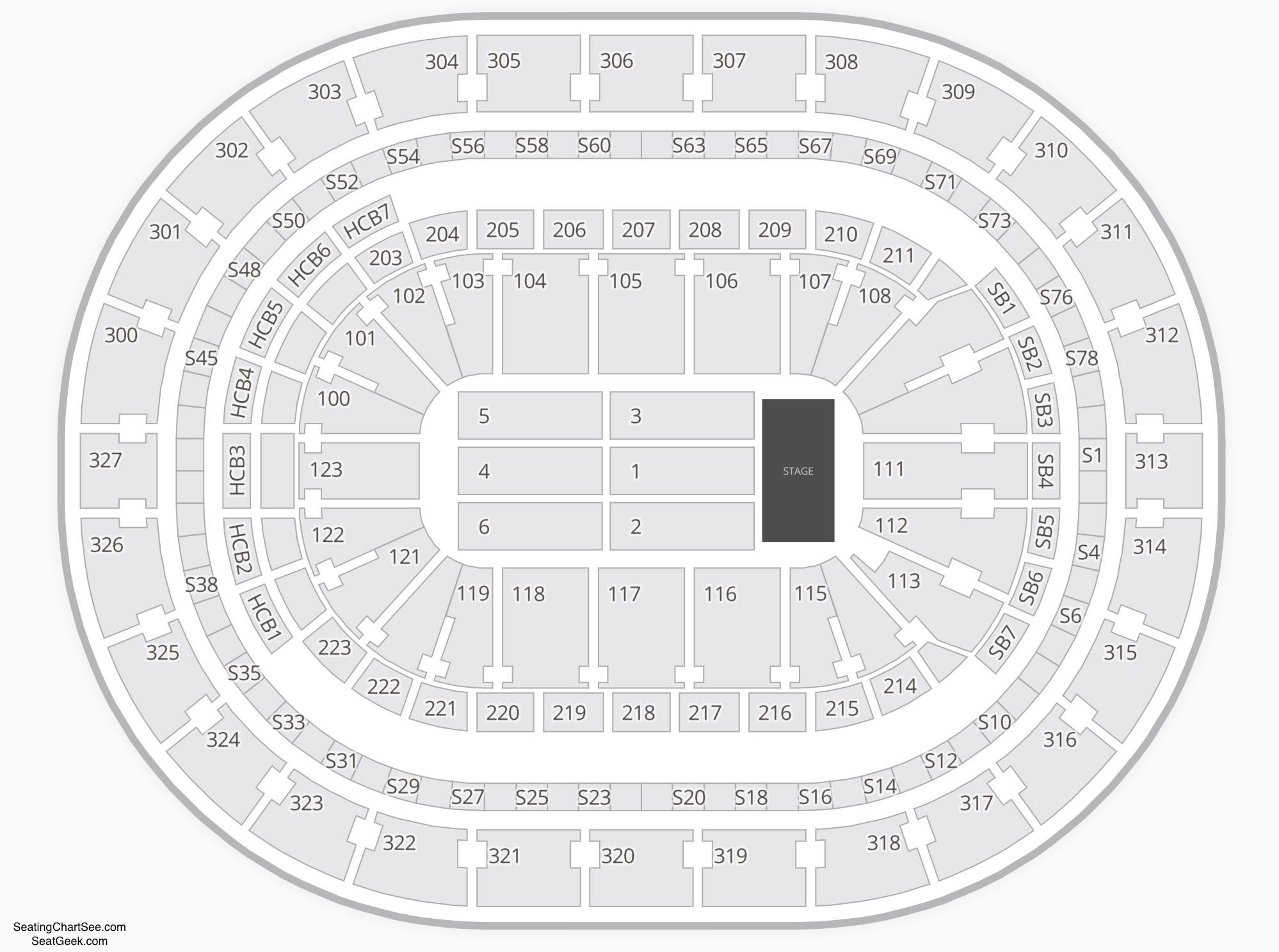 KeyBank Center Seating Chart