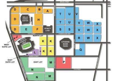 Lincoln Financial Field Parking Lots