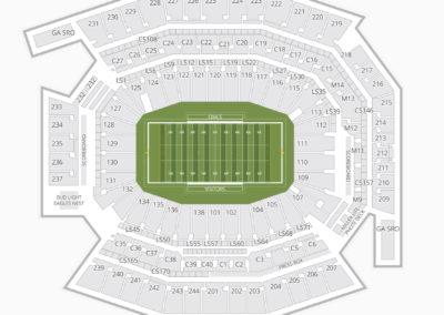 Lincoln Financial Field Seating Chart NCAA Football