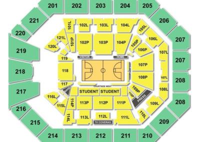 Matthew Knight Arena Seating Chart Basketball