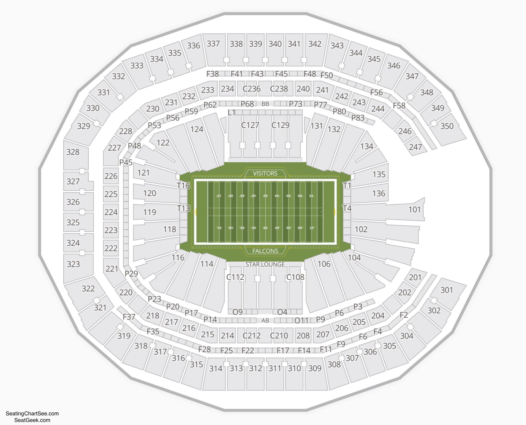 Mercedes-Benz Stadium Seating Chart NFL