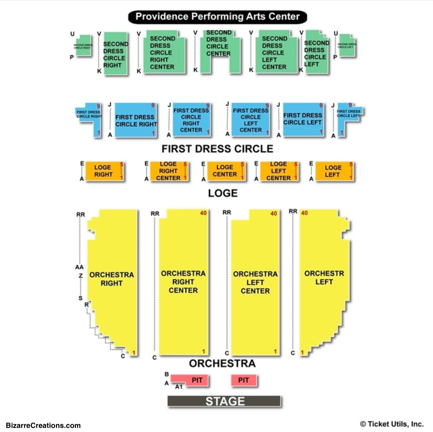 Providence Performing Arts Center Seating Chart Concert