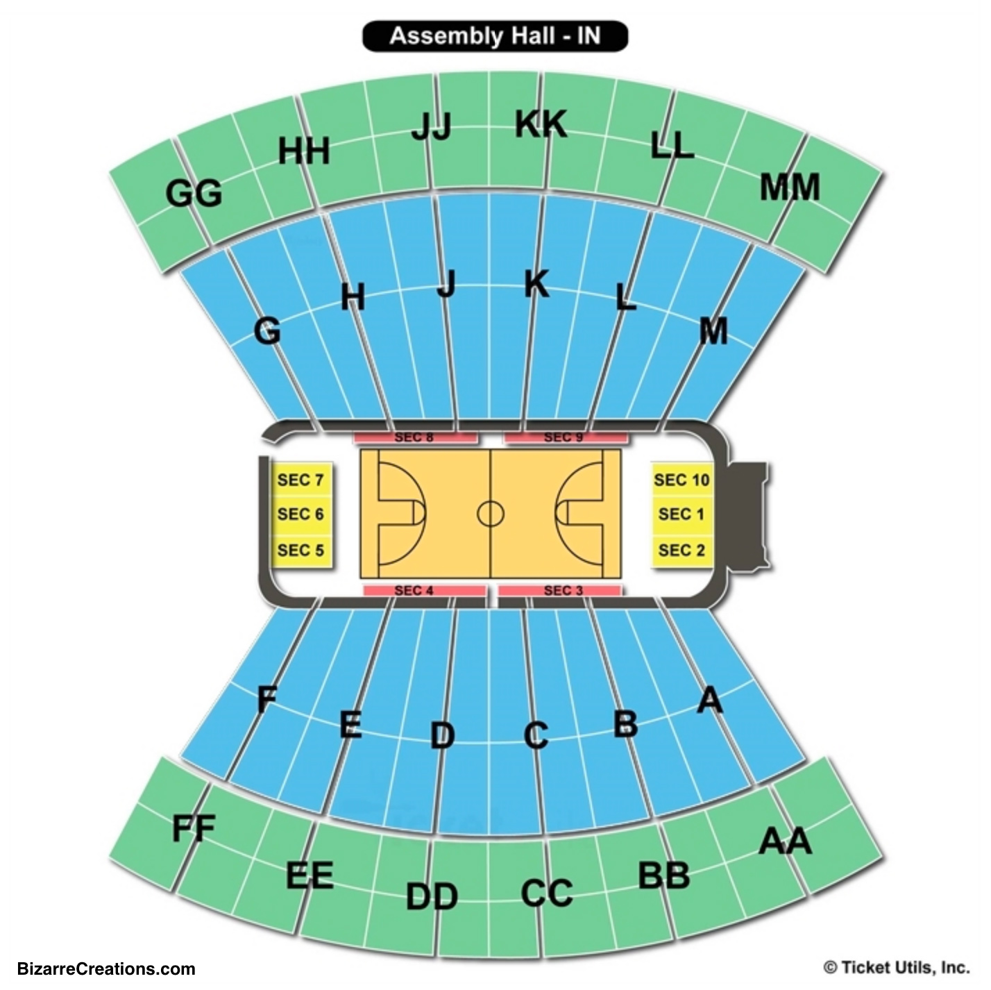 Simon Skjodt Assembly Hall Seating Chart Indiana