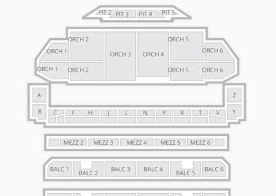 The Fabulous Fox Theatre Seating Charts