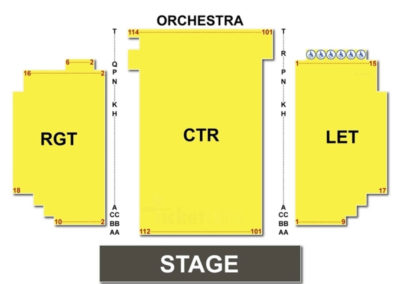 The Palladium at the Center for the Performing Arts Seating Chart