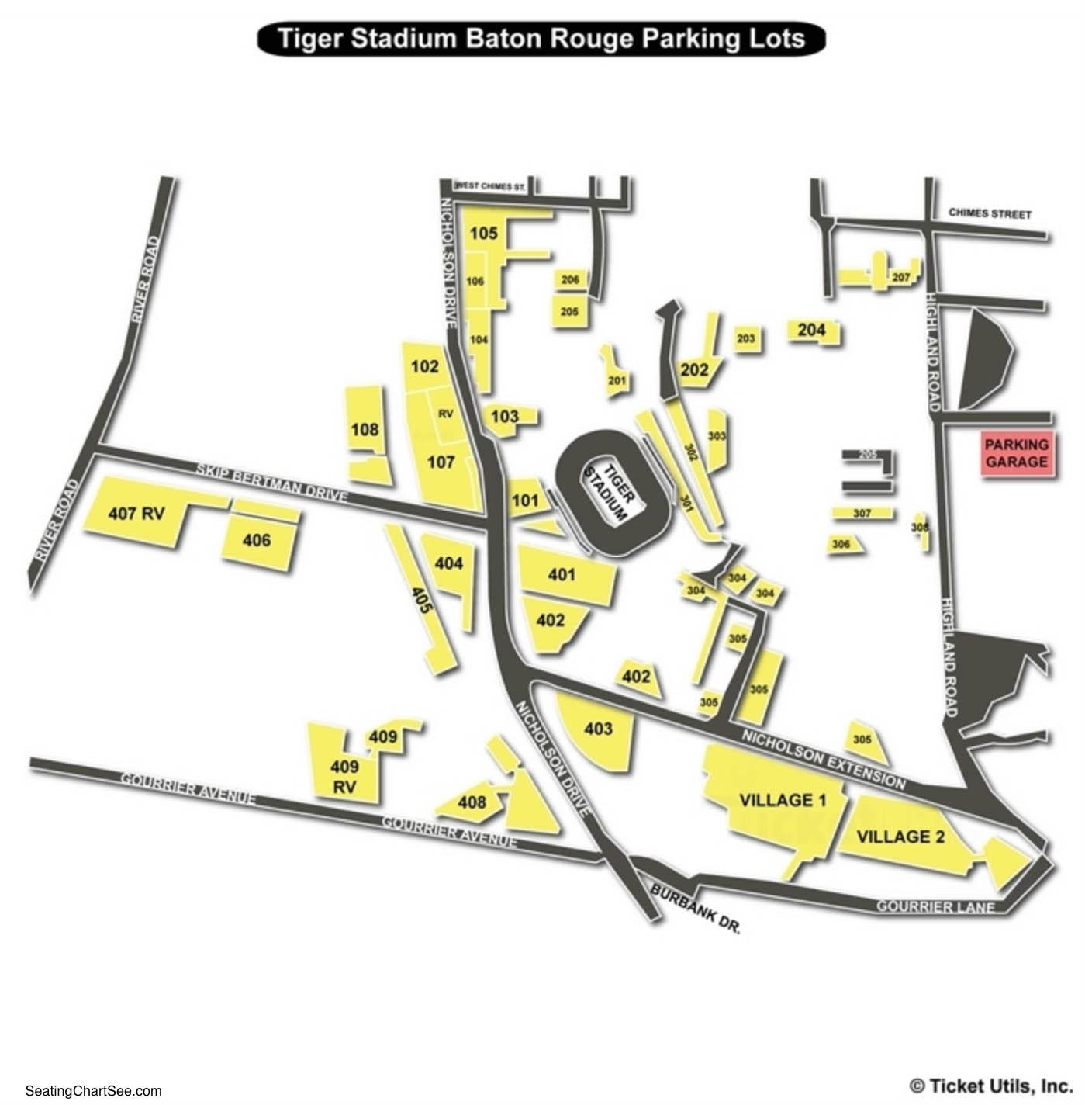 Tiger Stadium Baton Rouge Parking Lots