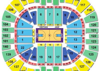 Vivint Smart Home Arena Seating Chart Basketball