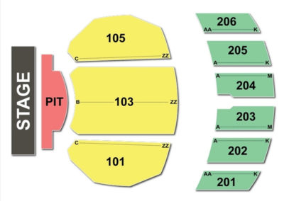 Warner Theatre Seating Chart Erie