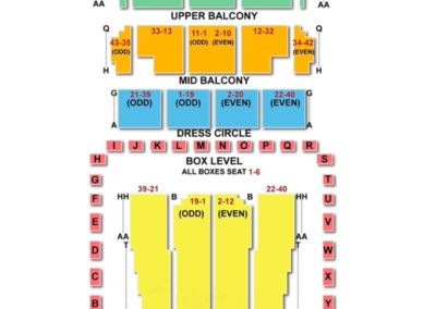 dso Seating Chart