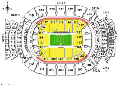 Air Canada Centre Seating Chart Tennis