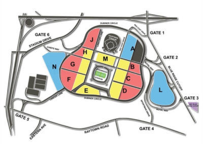 Arrowhead Stadium Parking Lots