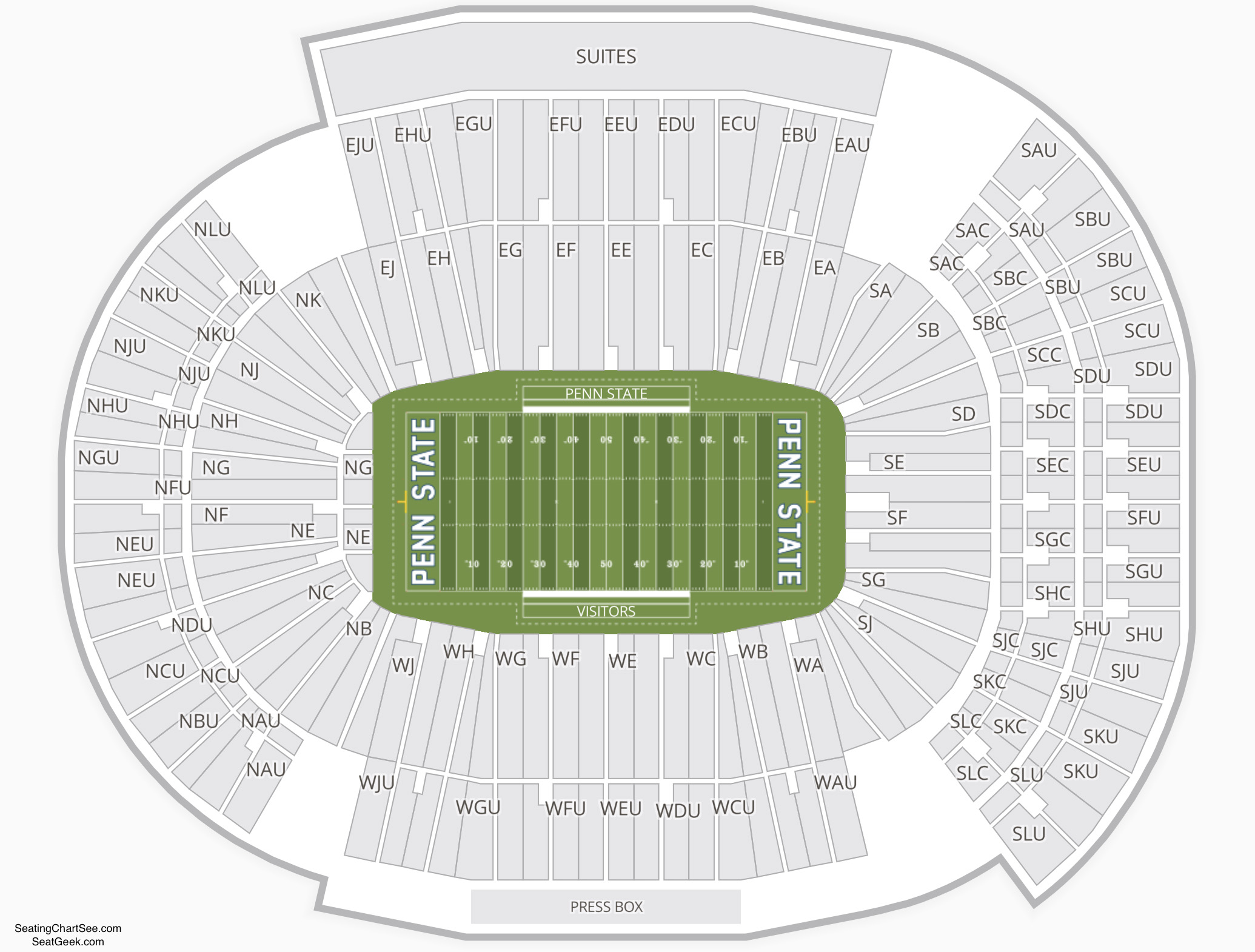 Beaver Stadium Concert Seating Chart