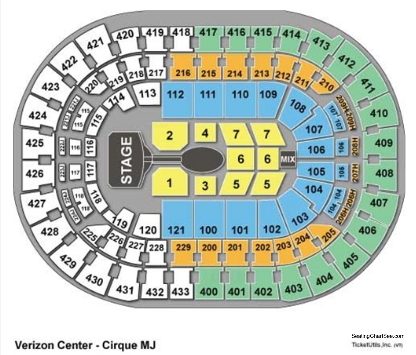Capital One Arena Cirque Seating Chart