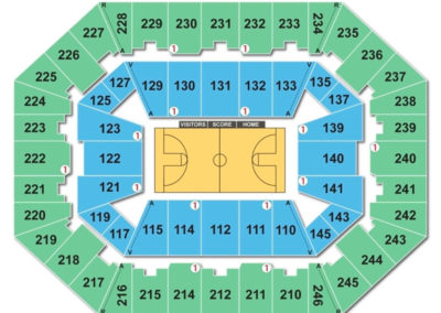 Charleston Civic Center Seating Chart Basketball