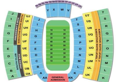 Clemson Memorial Stadium Football Seating Chart