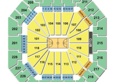Colonial Life Arena Seating Chart Basketball