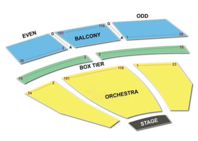 J. Kennedy Center Eisenhower Theater Seating Chart