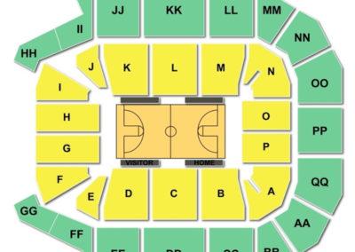 JQH Arena Seating Chart Basketball