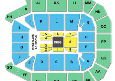 JQH Arena Seating Chart WWE