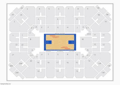 Kansas Jayhawks Basketball Seating Chart