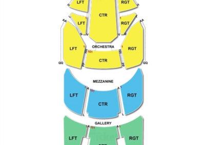 Sarofim Hall at The Hobby Center Seating Chart