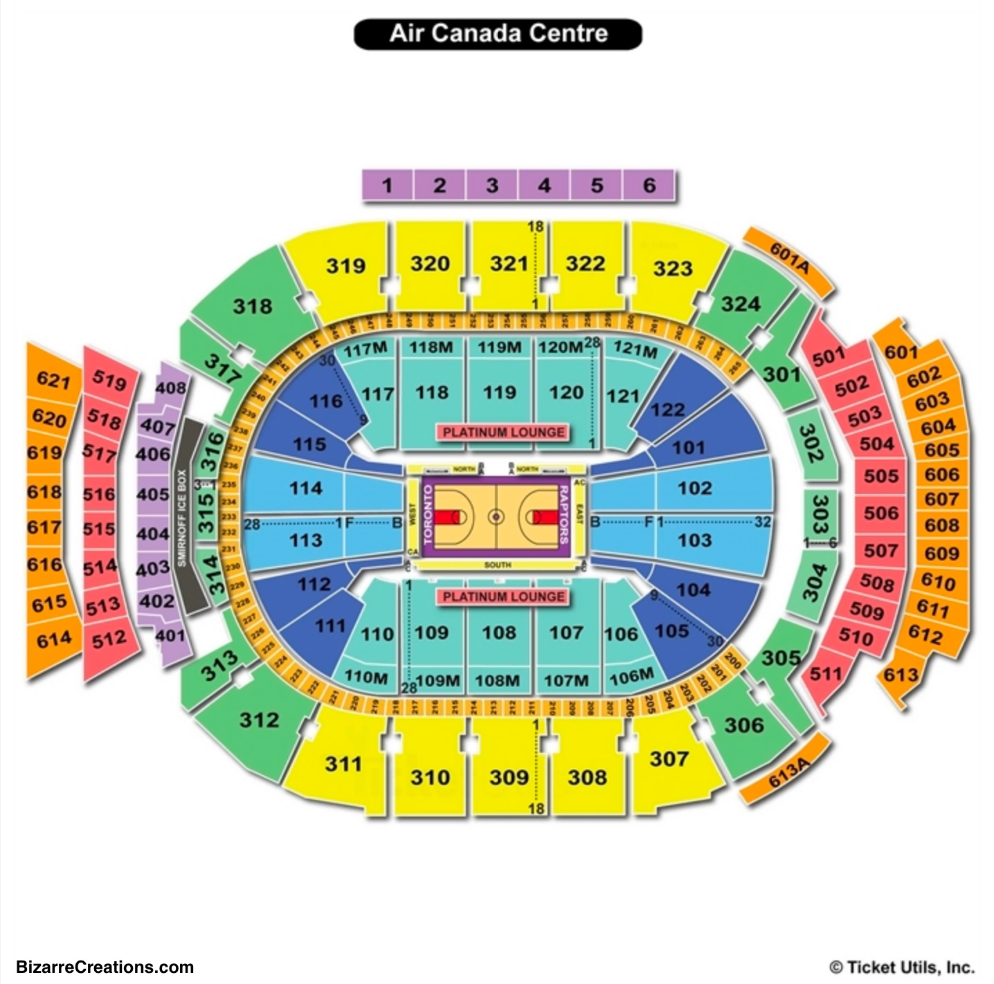 Scotiabank Arena Seating Chart Basketball