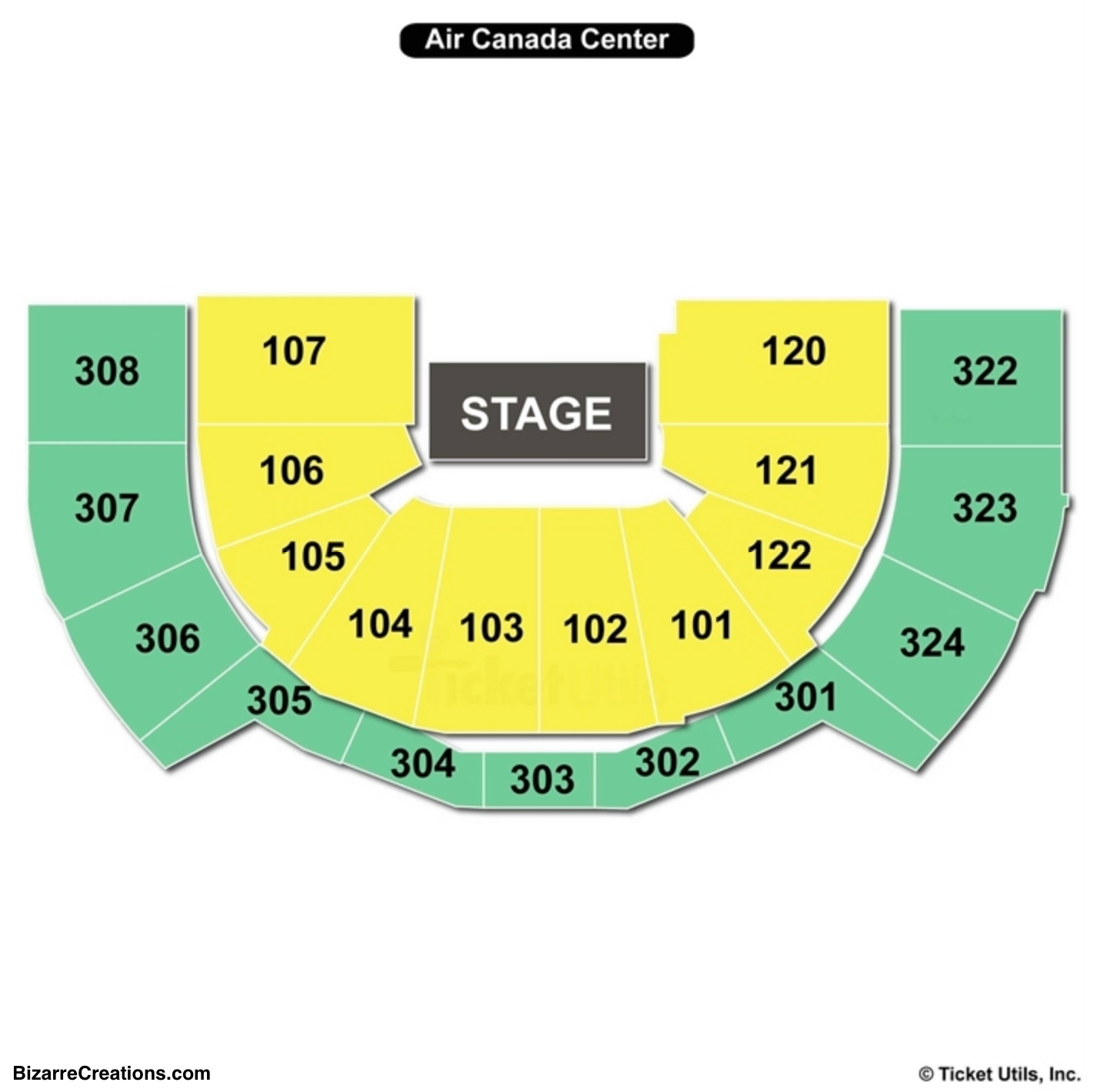 Scotiabank Arena Seating Charts & Views | Games Answers ...