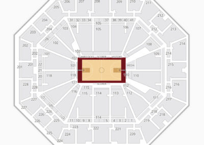 South Carolina Gamecocks Basketball Seating Chart