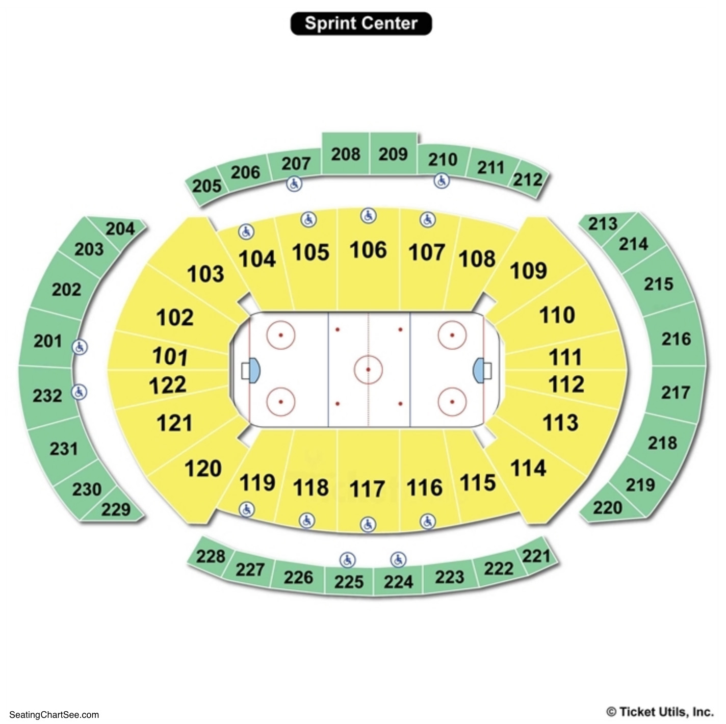 Sprint Center Hockey Seating Chart