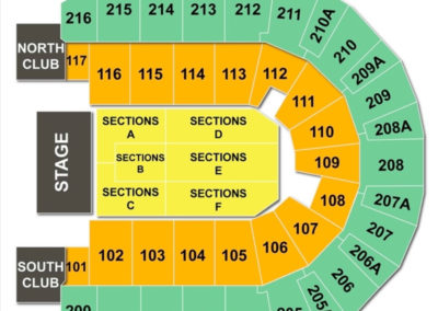 TaxSlayer Center Concert Seating Chart