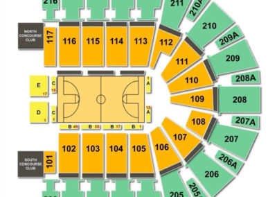TaxSlayer Center Seating Chart Basketball