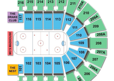TaxSlayer Center Seating Chart Hockey