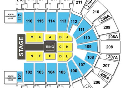 TaxSlayer Center Seating Chart WWE