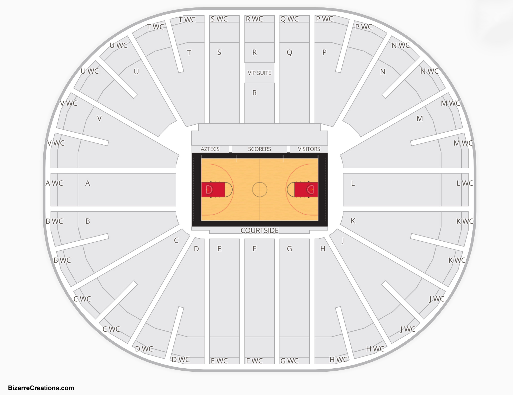 Viejas Arena Basketball Seating Chart