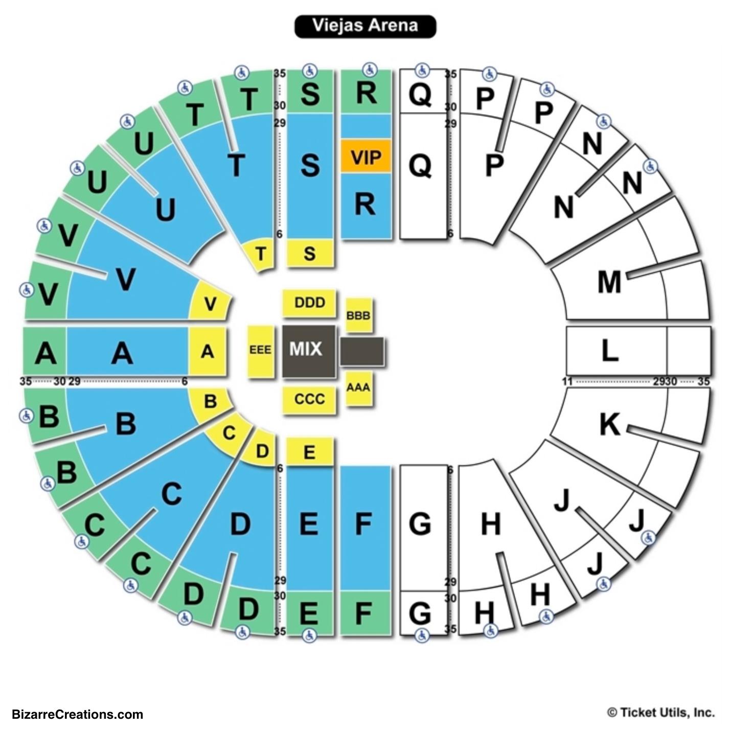 Viejas Arena Seating Chart WWE