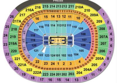 Wells Fargo Center Arena Basketball Seating Chart