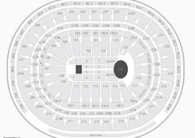 Wells Fargo Center Concert Seating Chart