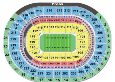 Wells Fargo Center Football Seating Chart