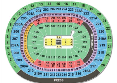 Wells Fargo Center WWE Seating Chart