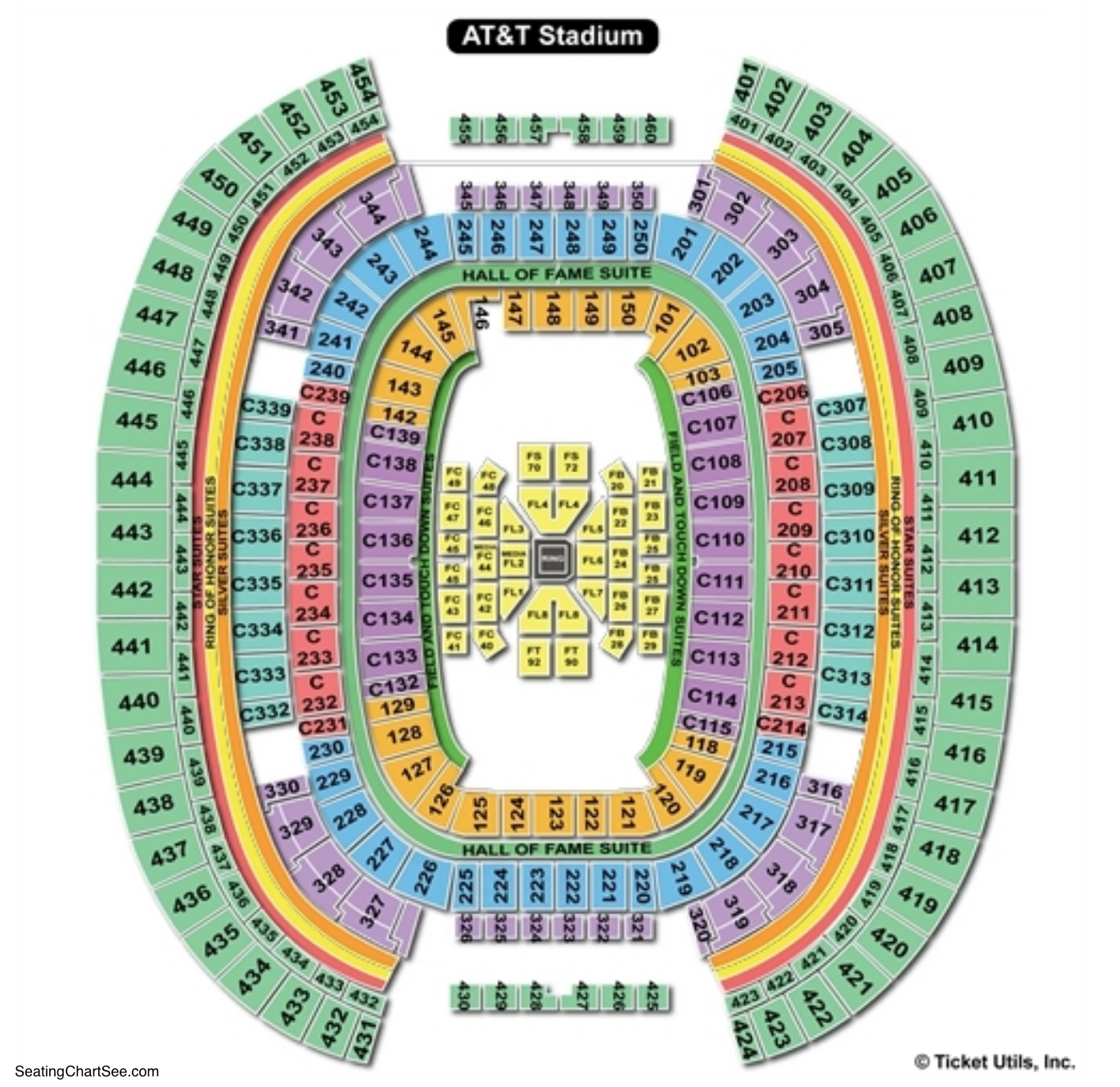 AT&T Stadium Boxing Seating Chart
