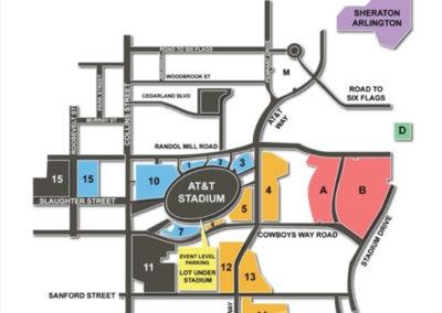 AT&T Stadium Parking Lots Chart