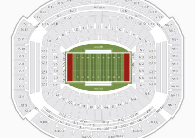 Alabama Crimson Tide Football Seating Chart